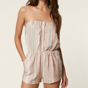 O'Neill Shayla Printed Strapless Romper